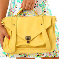 On The Sunny Side Purse: Yellow - One