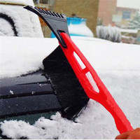 Hot 2 in 1 Ice RemoveTool 1pcs Car Winter Ice Scraper Snow Brush Auto Truck Window Retractable Shovel Removal Brush Shovels
