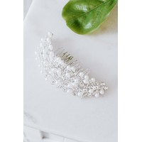 Thick Pearl & Stone Vines Hair Comb