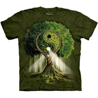 YIN YANG TREE The Mountain Peace Hippie Nature Spiritual Adult T-Shirt S-3XL NEW