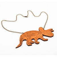 Triceratops Skeleton Necklace