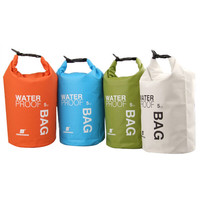 4Colors 5L Ultralight Portable Outdoor Tools Rafting Waterproof Dry Bag Swim Storage Blue White Orange Green Camping Equipment