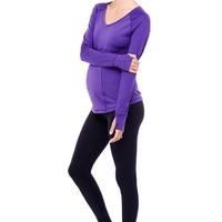 Ingrid & Isabel Active Long Sleeve Maternity Top