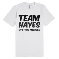 Team Hayes Lifetime Member T Shirt-Unisex White T-Shirt