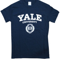 """Arched 'Yale University"""" with Logo underneath"""