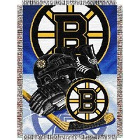 """Boston Bruins NHL Woven Tapestry Throw (Home Ice Advantage) (48""""x60"""")"""