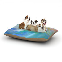"""Theresa Giolzetti """"Jelly Fish"""" Blue Teal Dog Bed"""