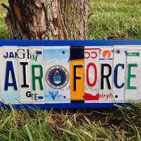 AIR FORCE Recycled License Plate Sign Art United States Air Force