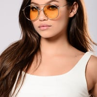 Dayclub Sunglasses - Silver/Yellow