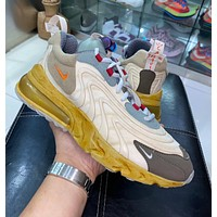 Travis Scott x Nike Air Max 270 React half palm cushion cushioning sneakers shoes
