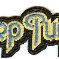 Deep Purple Iron-On Patch Letters Logo