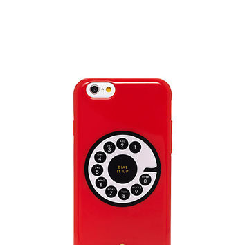 Kate Spade Rotary Resin Iphone 6 Case Cherry Liqueur ONE