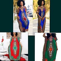 African Print Dresses, Sizes Small - XLarge