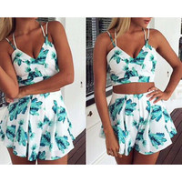 PRINTED FASHION BEACH TWO-PIECE SUIT