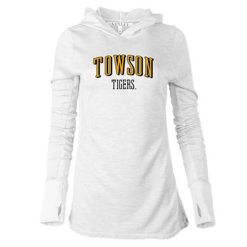 NCAA Towson Tigers RYLTOW07 Women's Long Sleeve Thumbhole Hoodie