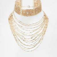 River Island Thread Choker Necklace