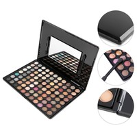 88 Color Neutral Warm Eyeshadow Palette Makeup Cosmetic Brush Kit Eye