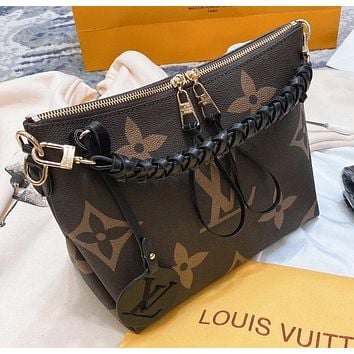 LV Fashion New monogram print leather shopping leisure shoulder bag women handbag crossbody bag