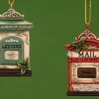 12 Christmas Ornaments - Letter And Mail Box