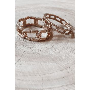 Romance In The Air Gold Chain Bracelet