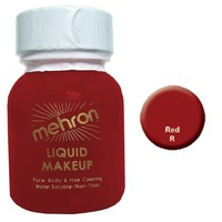 Mehron Liquid Face Paints - Red R (1 oz)