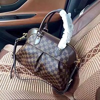 LV Louis Vuitton DAMIER CANVAS HINA HANDBAG SHOULDER BAG