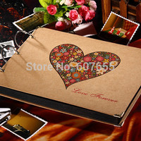2015 10 inch New Photo Album Wedding Photos Children Family Memory Record Scrapbooking Album Sticky Type Lovers Birthday Gift