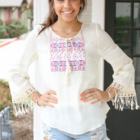 Take it Easy Top - Ivory