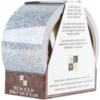 Die Cuts With A View Home Craft Trim 2 Solid Silver, 157-inches by 2-inches Glitter Roll