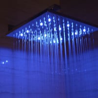 "ALFI brand LED5008 12"" Square Multi Color LED Rain Shower Head"