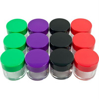Stalwart? Set of 12 20 ml Color Coded Plastic Jars