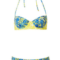 Blue Porcelain Floral Bikini - New In This Week - New In - Topshop