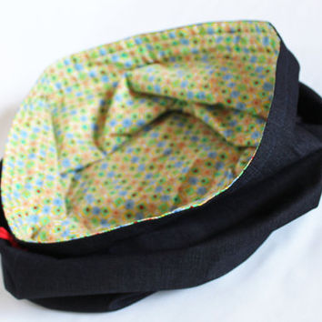 Denim and Geometric Shape Print Toy Bag Extra-Large Bag Home School Travel Kids Laundry Tote -- US Shipping Included