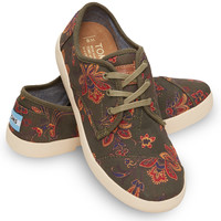 OLIVE CANVAS FLORAL WOMEN'S PASEOS