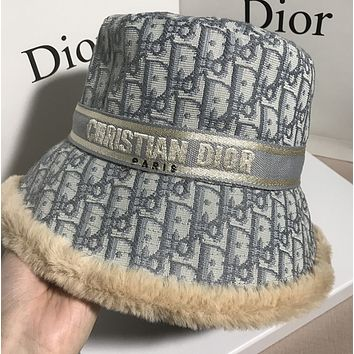 DIOR Fleecy Classic To keep warm Bucket hat