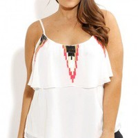 Plus Size Neon Sequin Strappy Top - City Chic - City Chic