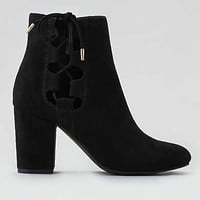 AEO Lace-Up Side Bootie, Black