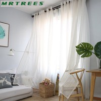 Linen Sheer Curtains Window Curtains for Living Room Bedroom Curtains for The Kitchen Modern Tulle Curtains for Window Drapes