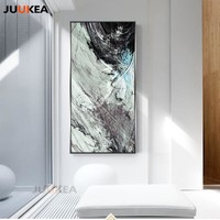 Large Size Modern Marble Abstract Landscape, Canvas Painting Prints and Posters, Wall Art Wall Pictures for Hallway Decoration