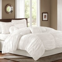Sidney Comforter Set in White