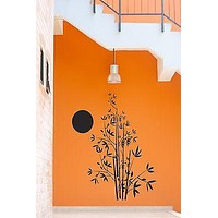 Wall Stickers Tree Bamboo Flower Sun Decor for Living Room Unique Gift z1307