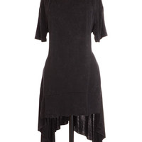 As Darkness Falls Distressed Tunic Top