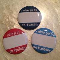 Tumblr, Twitter, Youtube Buttons