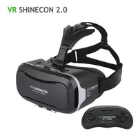 100% Original VR Shinecon 2.0 Upgraded 3D Glasses VR Headset UV Filter Protect Eyesight Virtual Reality Glasses 2016 Hot
