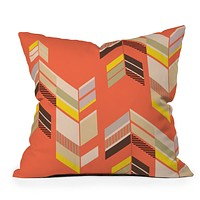 Gabi Chevron Coral Throw Pillow