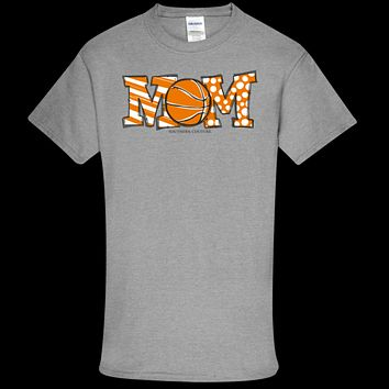 Southern Couture Soft Collection Basketball Mom front print T-Shirt
