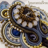 The Winter Sea - Soutache embroidery bracelet