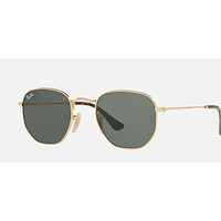 Ray Ban Sunglasses GOLD, with G-15 (green) Lenses RB 3548N 001