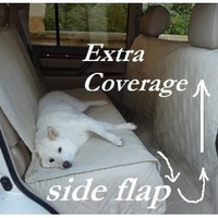 "Deluxe Quilted and Padded seat cover with Non-Slip Fabric in Seat Area for Pets - One Size Fits All 56""Wx94""L Taupe"