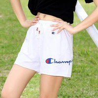 """Champion"" Women All-match Fashion Letter Leisure Pants Shorts"